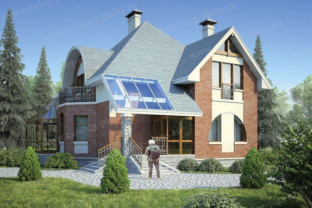 Проект жилой дом #53-78 материал - газобетон, стиль модерн