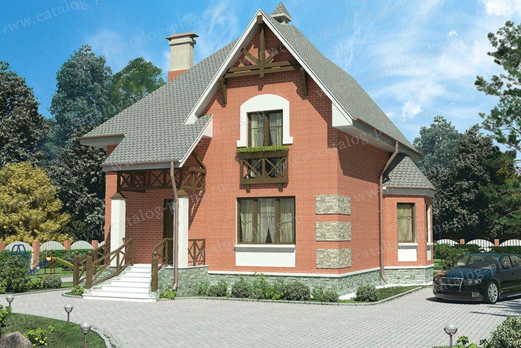 Проект жилой дом #53-23 материал - газобетон, стиль немецкий