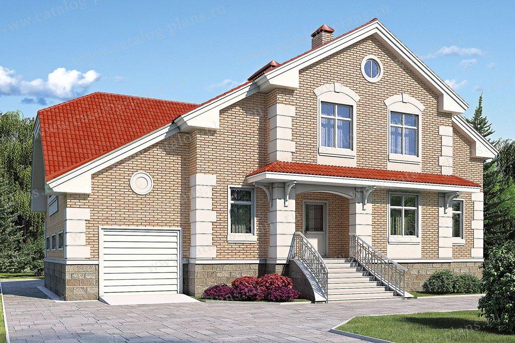 Проект жилой дом #53-13 материал - газобетон, стиль классический