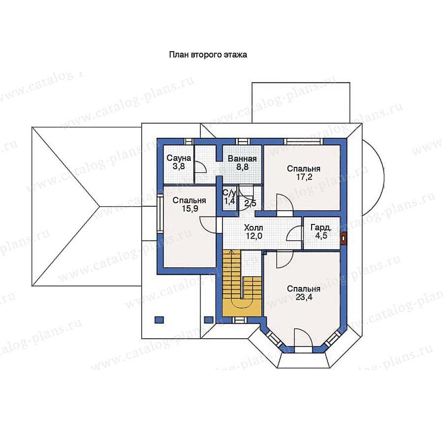 План 2-этажа проекта 53-24