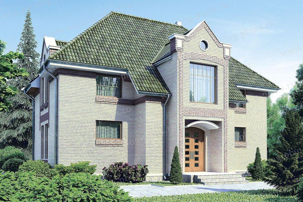 Проект жилой дом #53-19 материал - газобетон, стиль европейский