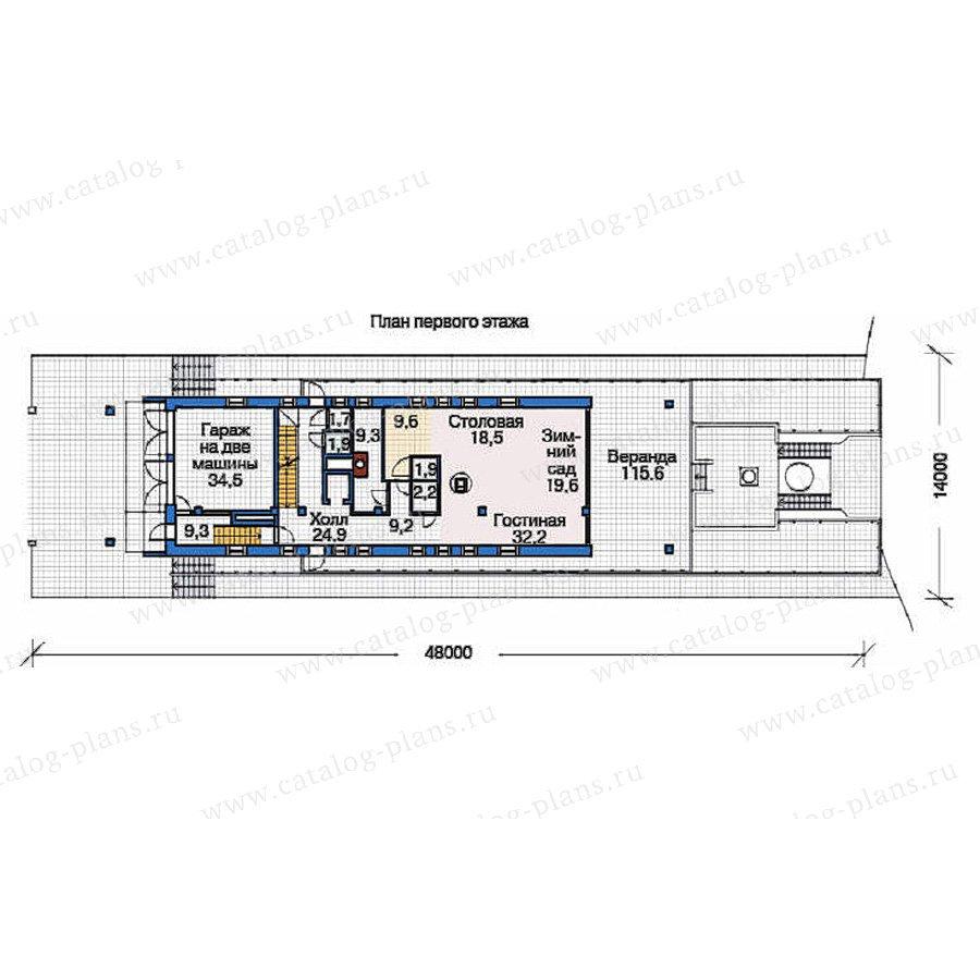 План 2-этажа проекта 53-72