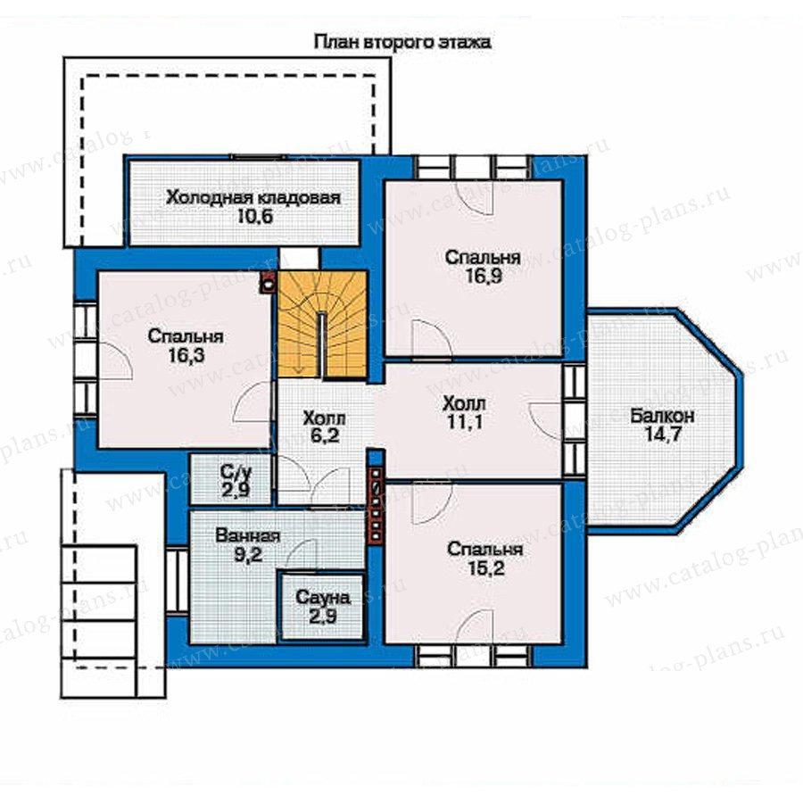 План 2-этажа проекта 53-77