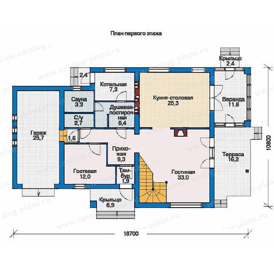 План 1-этажа проекта 53-46