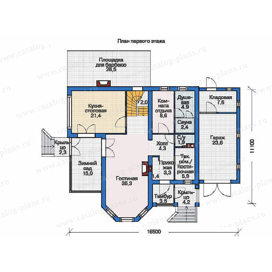 План 1-этажа проекта 54-11