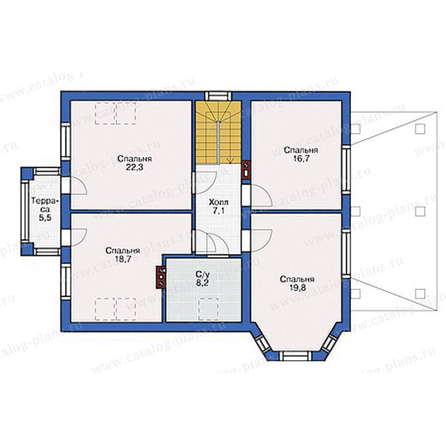 План 2-этажа проекта 54-52