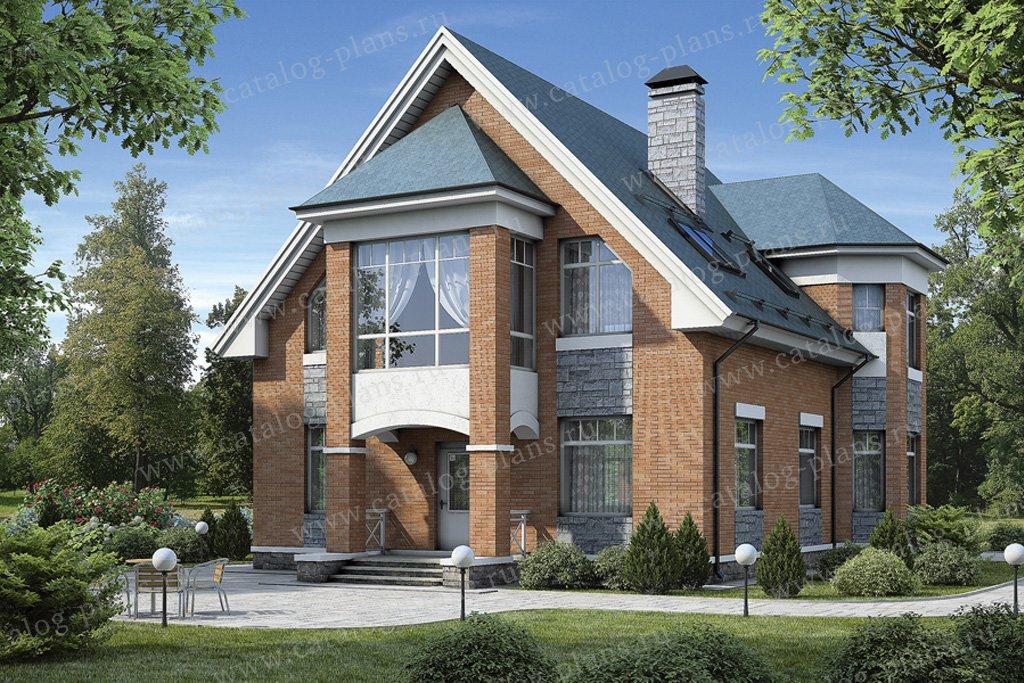 Проект жилой дом #54-52 материал - газобетон, стиль европейский