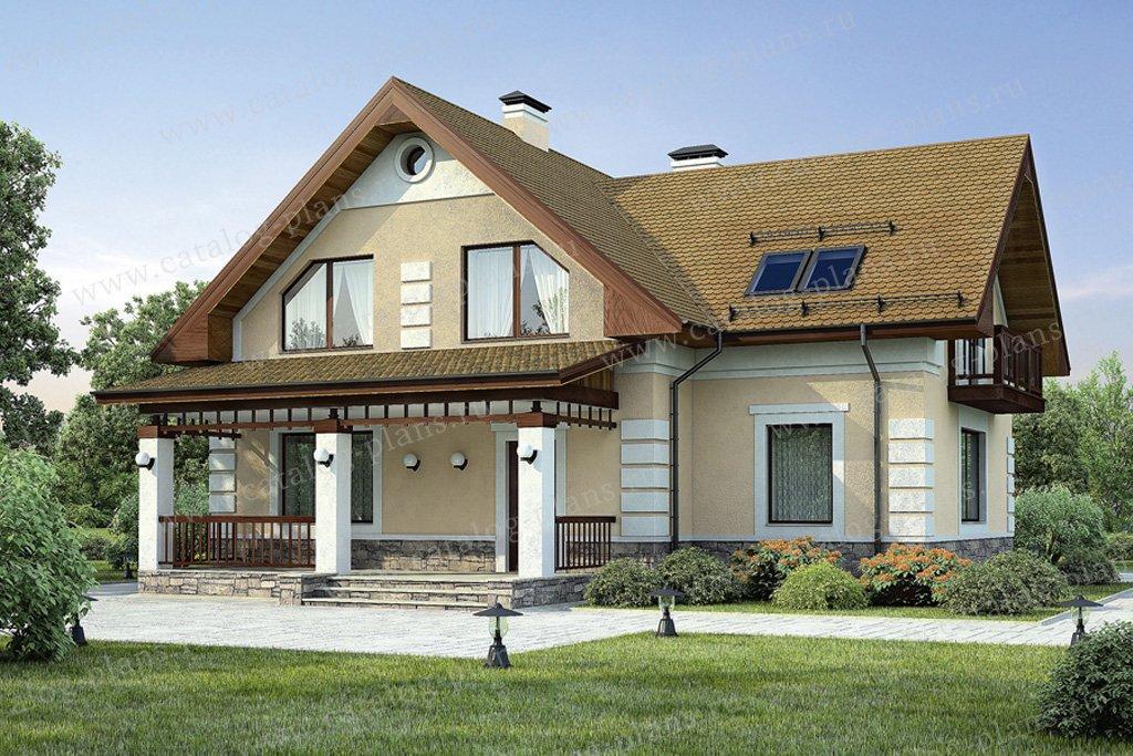 Проект жилой дом #54-18 материал - газобетон, стиль европейский