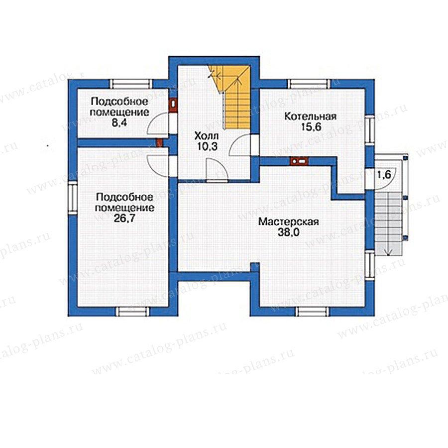 План 1-этажа проекта 54-45