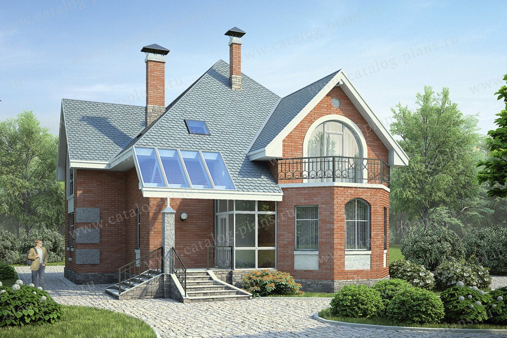 Проект жилой дом #54-08 материал - газобетон, стиль модерн