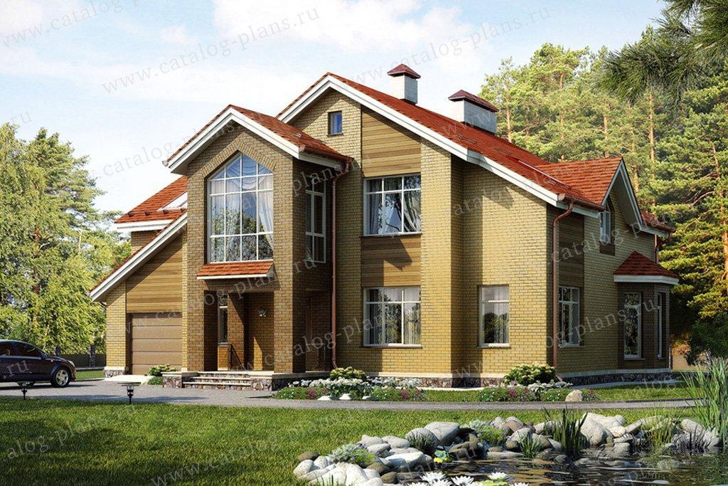 Проект жилой дом #54-96 материал - газобетон, стиль современный
