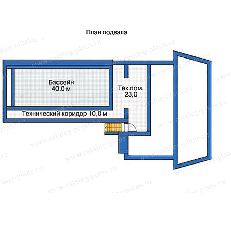 План 1-этажа проекта 54-46