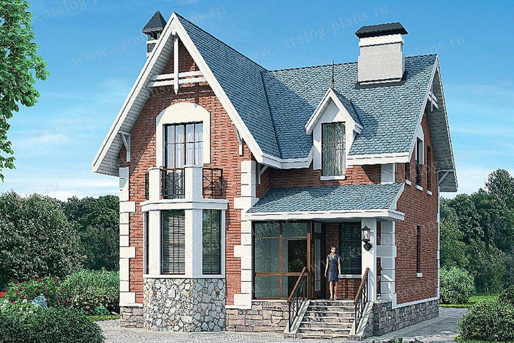 Проект жилой дом #54-91 материал - газобетон, стиль английский