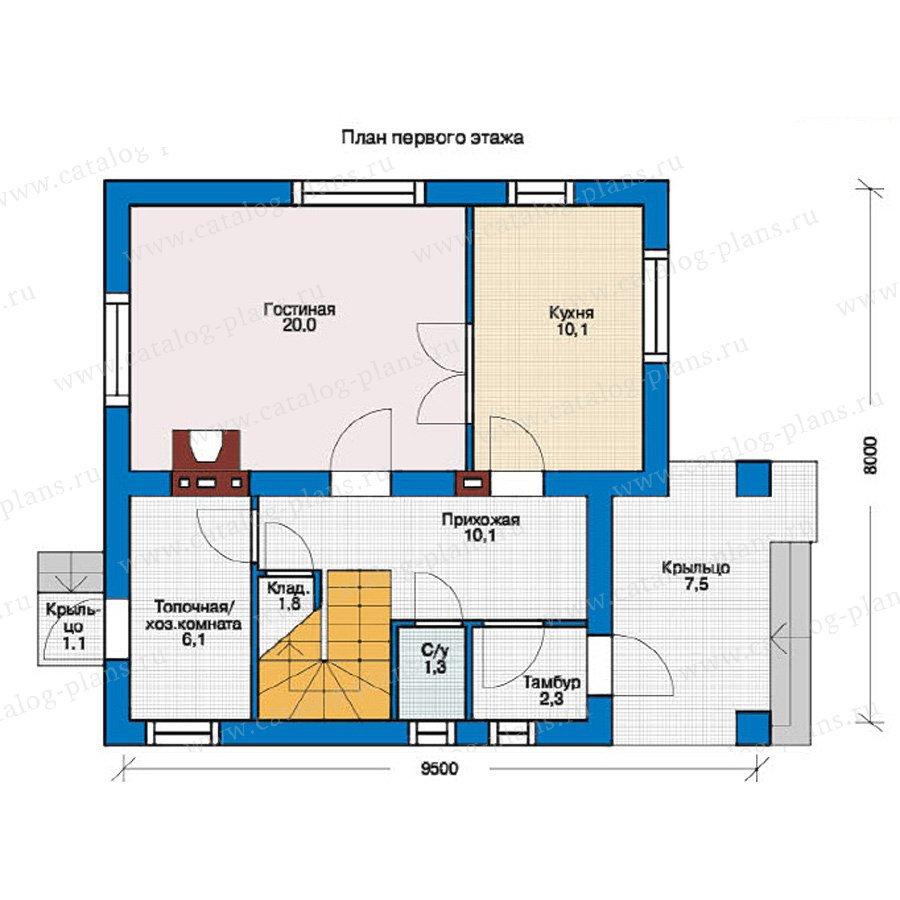 План 1-этажа проекта 54-30