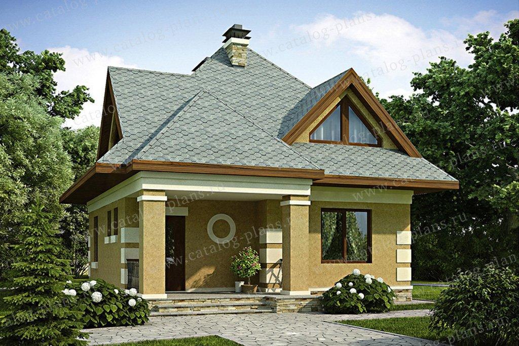 Проект жилой дом #54-30 материал - газобетон, стиль европейский