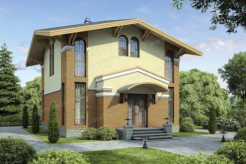 Проект жилой дом #54-80 материал - газобетон, стиль итальянский