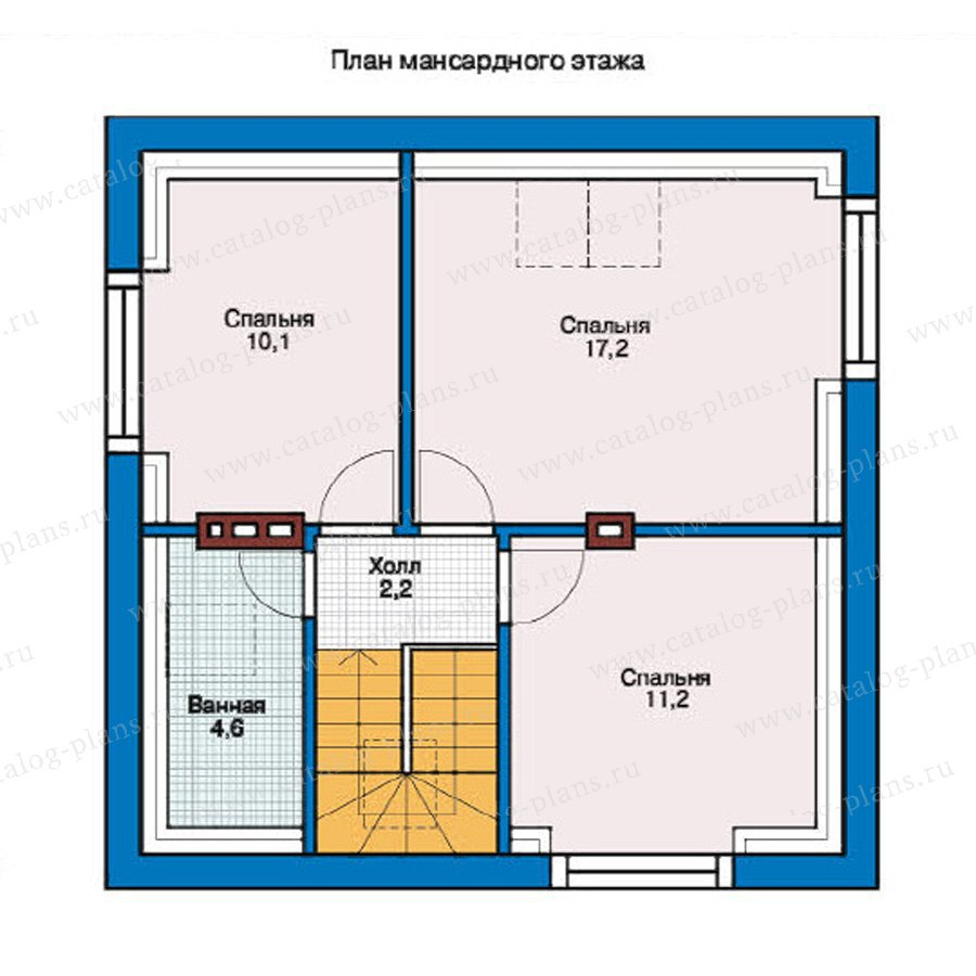План 2-этажа проекта 54-30