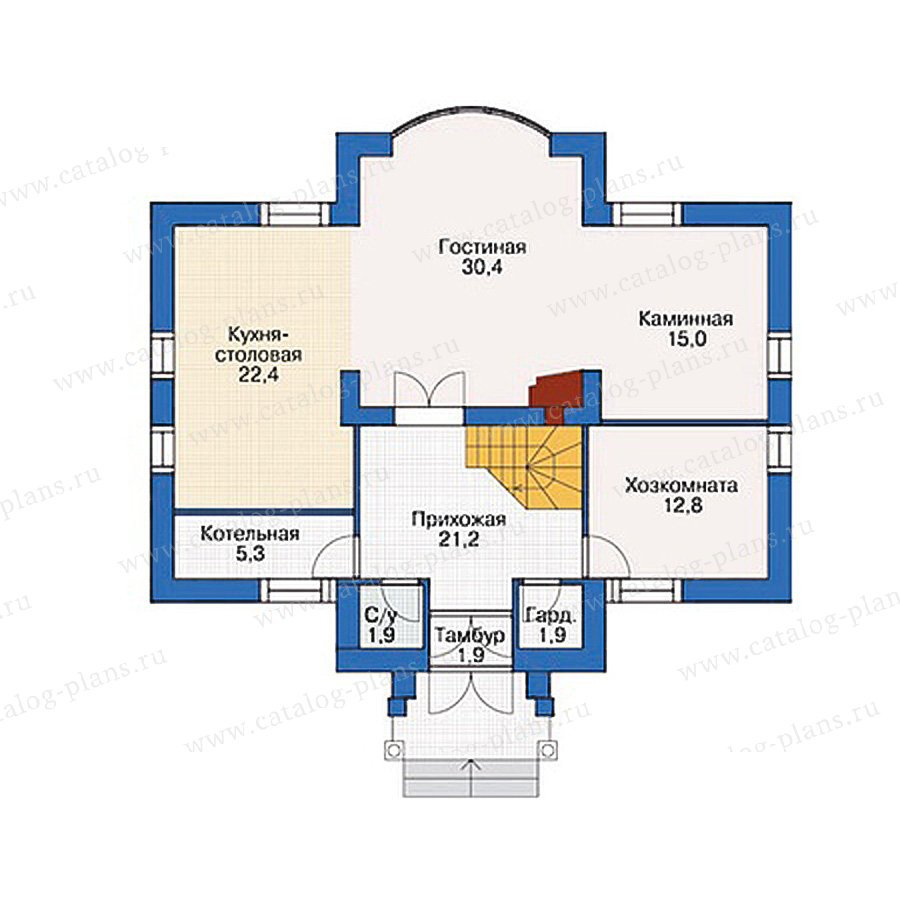 План 1-этажа проекта 54-47