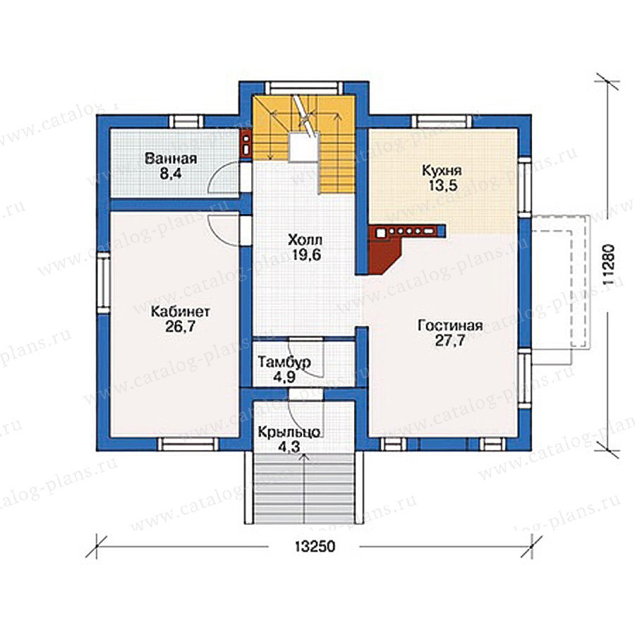 План 2-этажа проекта 54-45