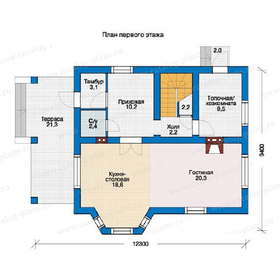План 1-этажа проекта 54-60