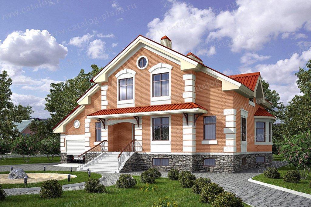 Проект жилой дом #54-82 материал - газобетон, стиль классический