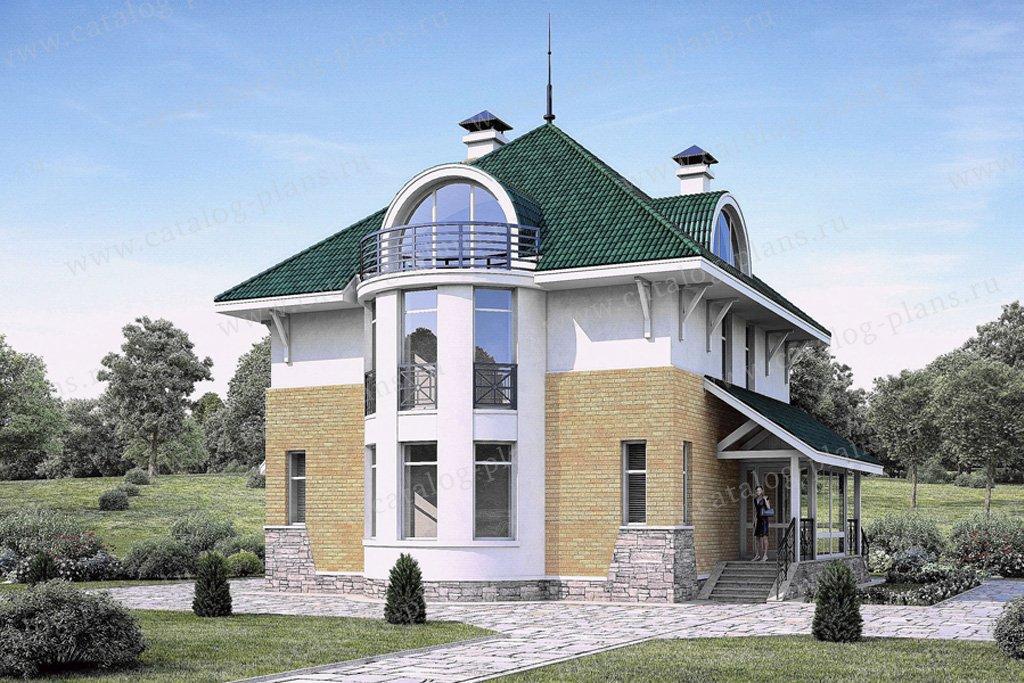Проект жилой дом #54-13 материал - газобетон, стиль современный