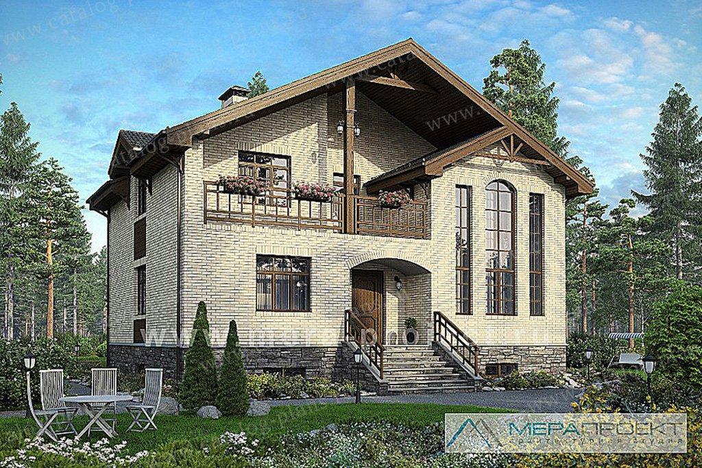 Проект жилой дом #54-45 материал - газобетон, стиль европейский