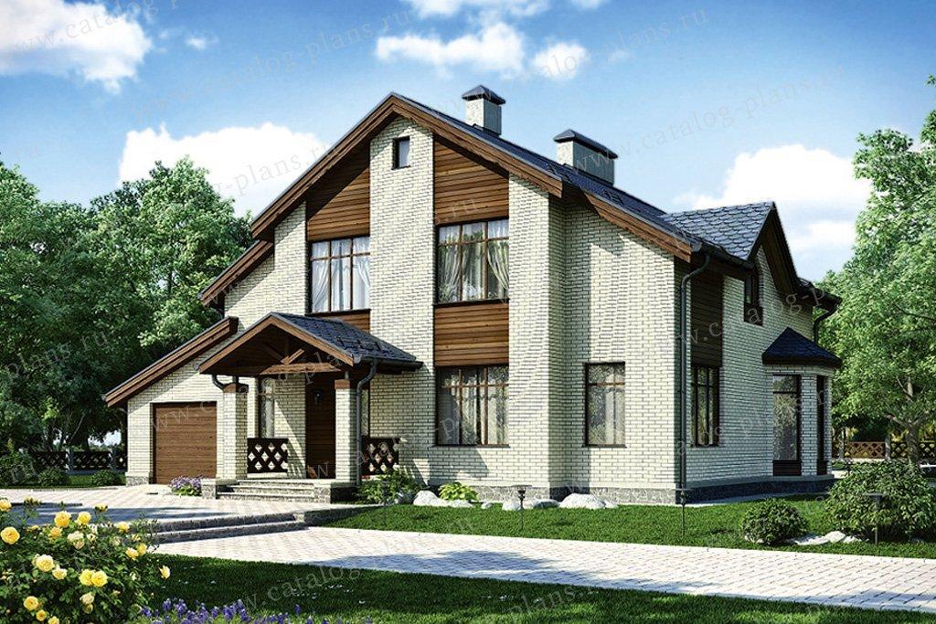 Проект жилой дом #54-97 материал - газобетон, стиль современный