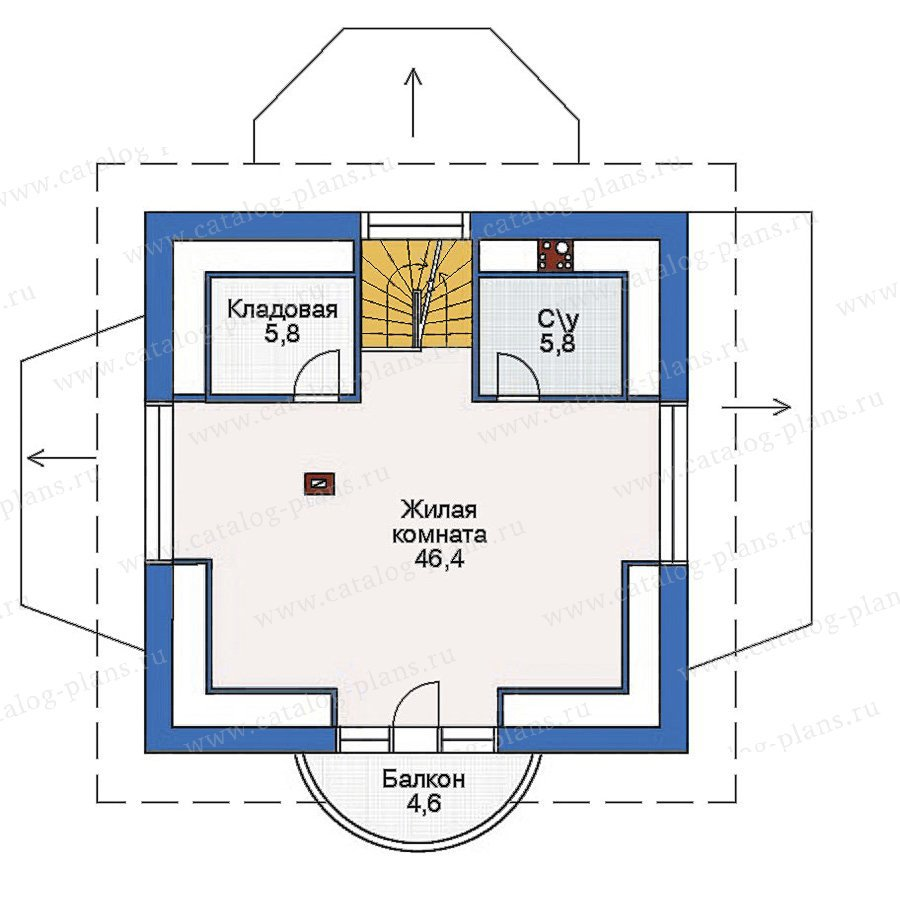 План 3-этажа проекта 54-13