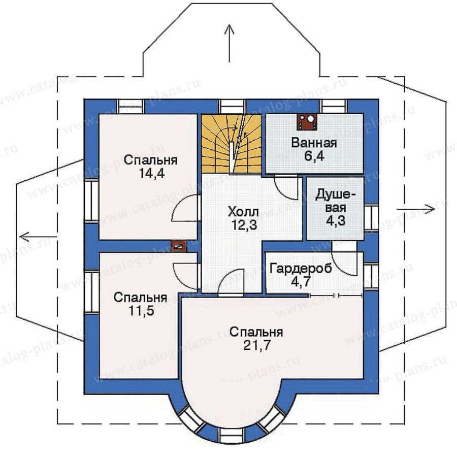План 2-этажа проекта 54-13