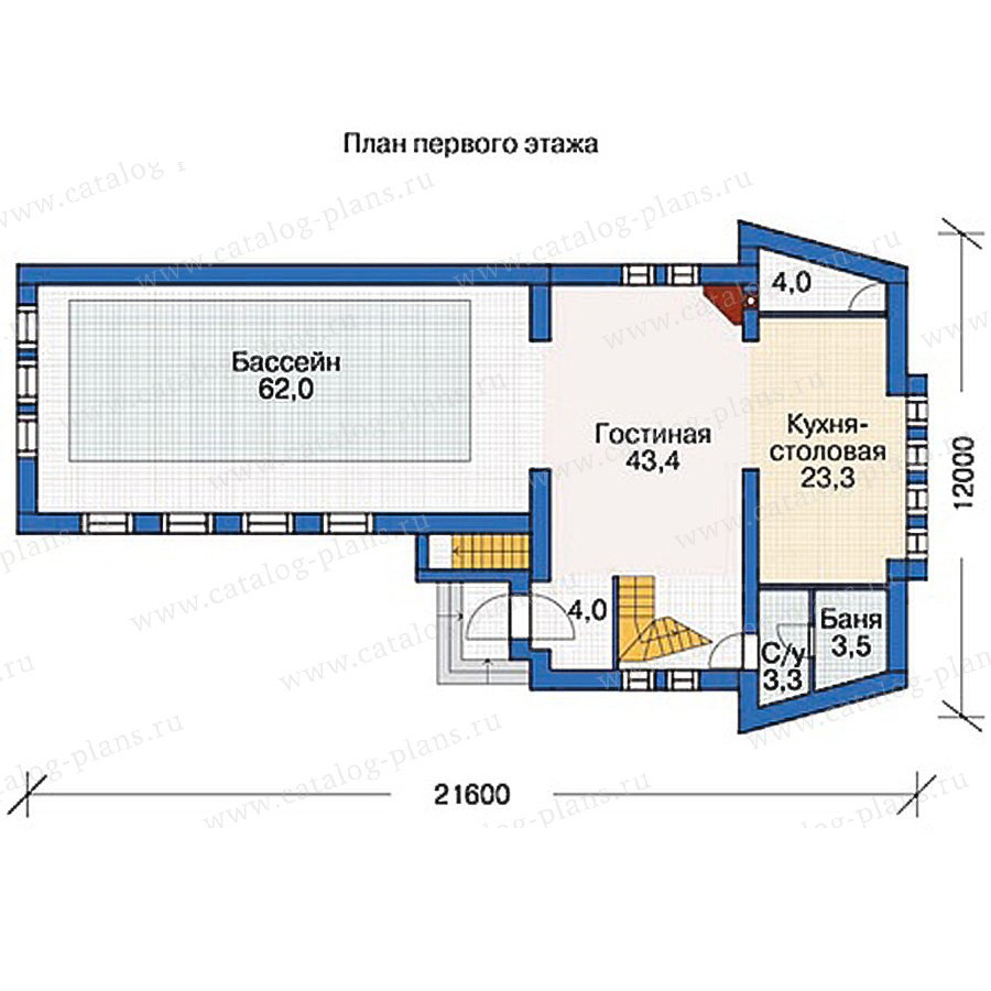План 2-этажа проекта 54-46