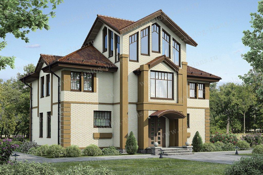 Проект жилой дом #54-47 материал - газобетон, стиль модерн
