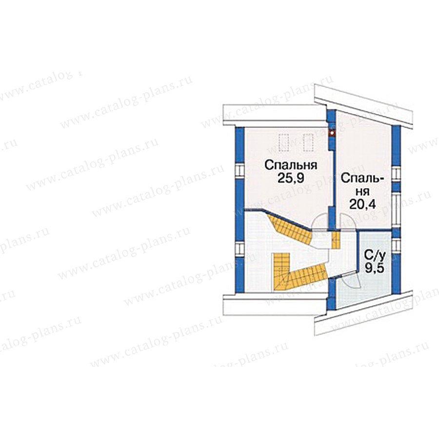 План 3-этажа проекта 54-46