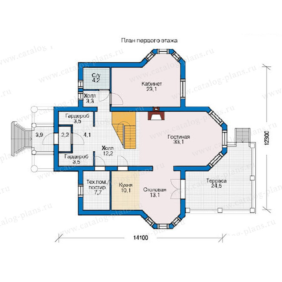 План 1-этажа проекта 54-63