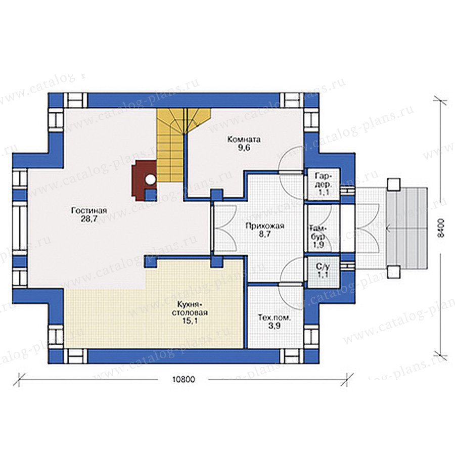 План 1-этажа проекта 54-80