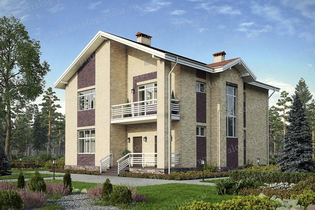 Проект жилой дом #56-19 материал - газобетон, стиль современный