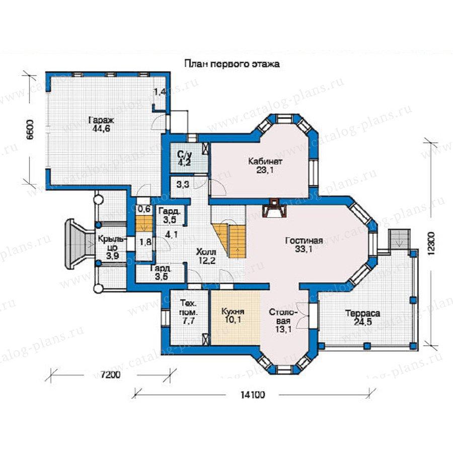 План 1-этажа проекта 54-92