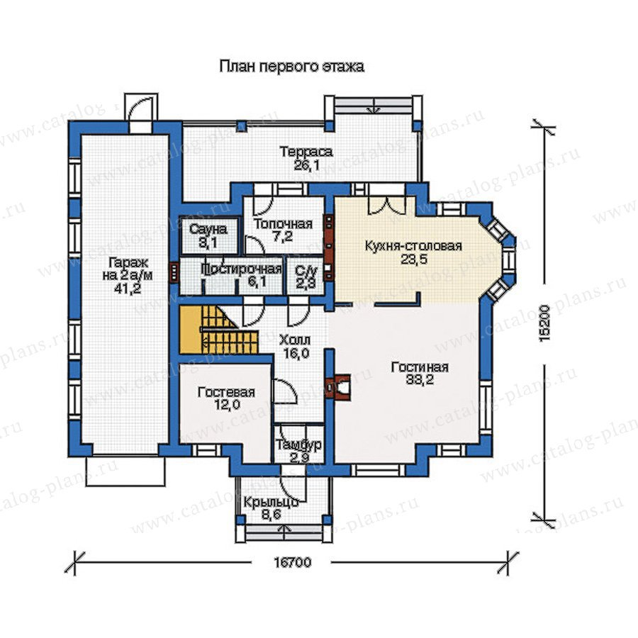 План 1-этажа проекта 54-97