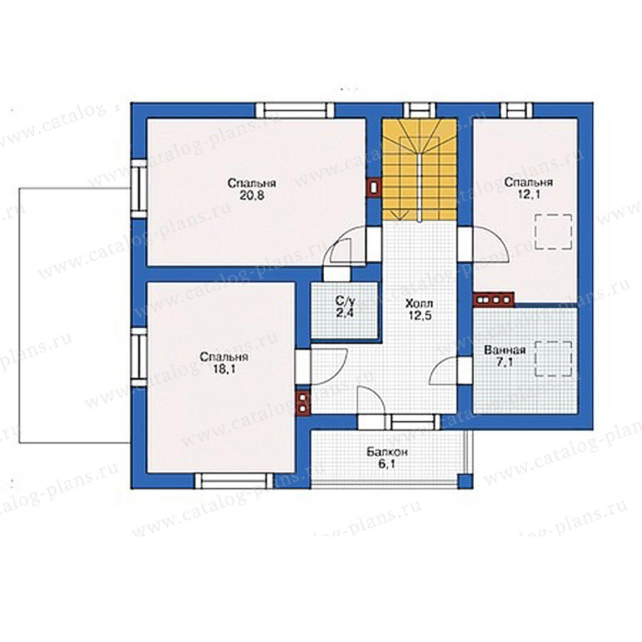 План 2-этажа проекта 55-50