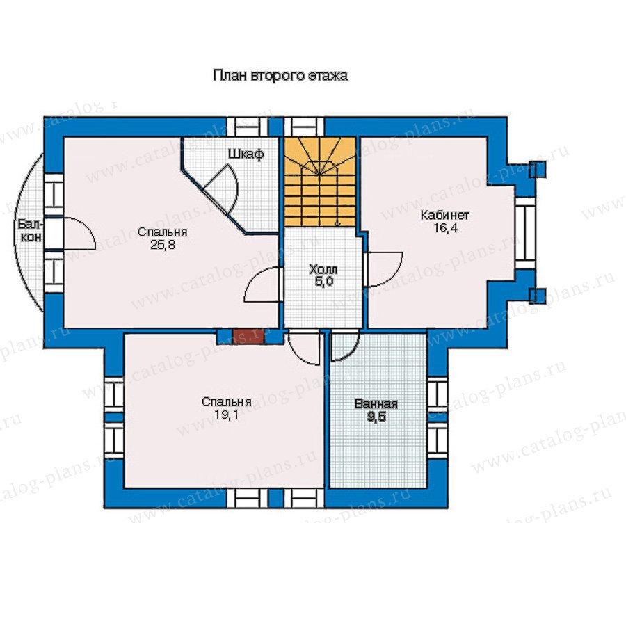 План 2-этажа проекта 55-01