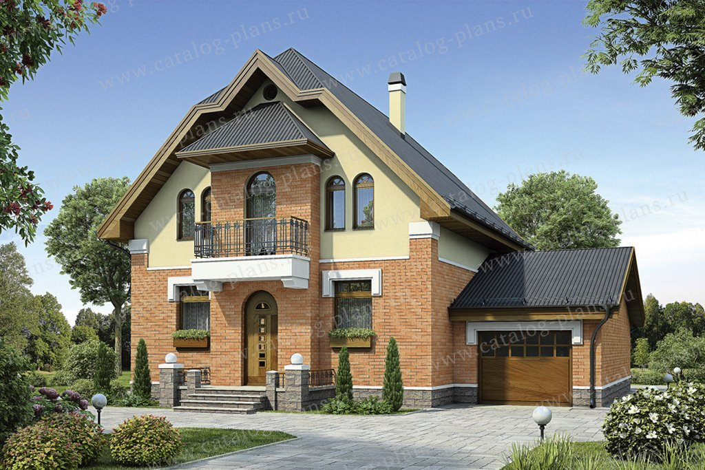 Проект жилой дом #55-16 материал - газобетон, стиль модерн