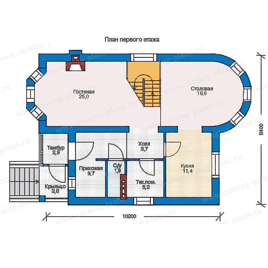 План 1-этажа проекта 54-91