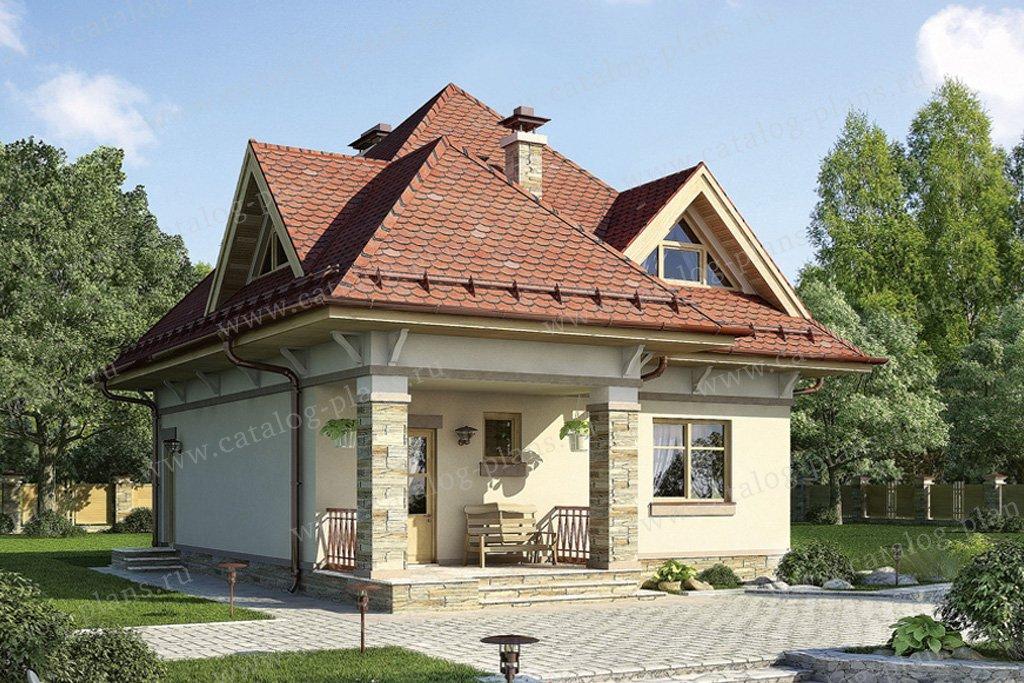 Проект жилой дом #55-25 материал - газобетон, стиль итальянский