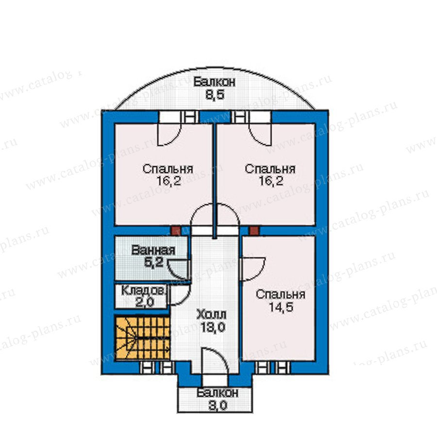 План 2-этажа проекта 55-18
