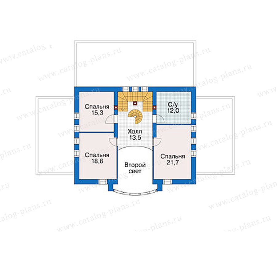План 2-этажа проекта 55-89