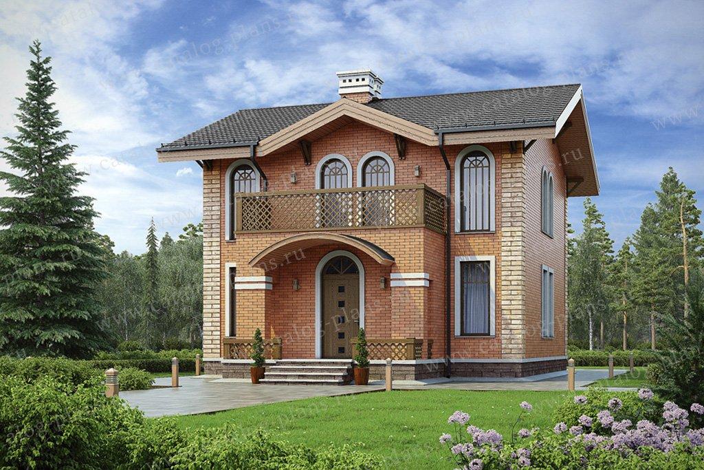 Проект жилой дом #56-93 материал - газобетон, стиль европейский