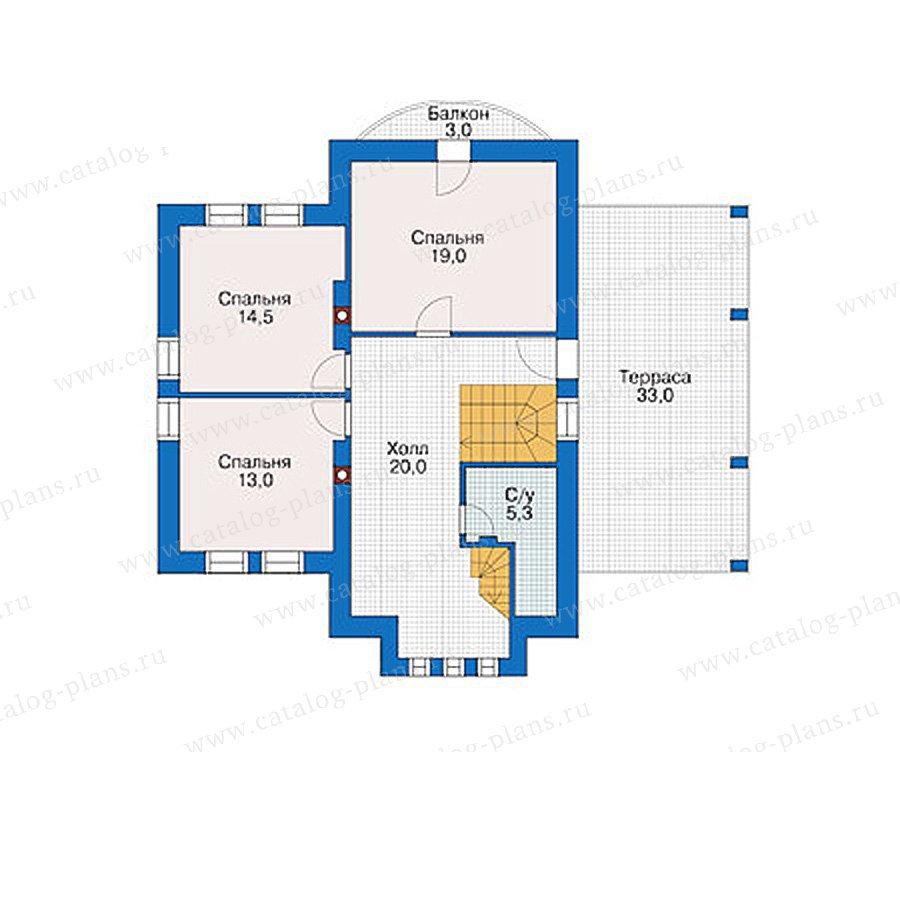 План 2-этажа проекта 55-87