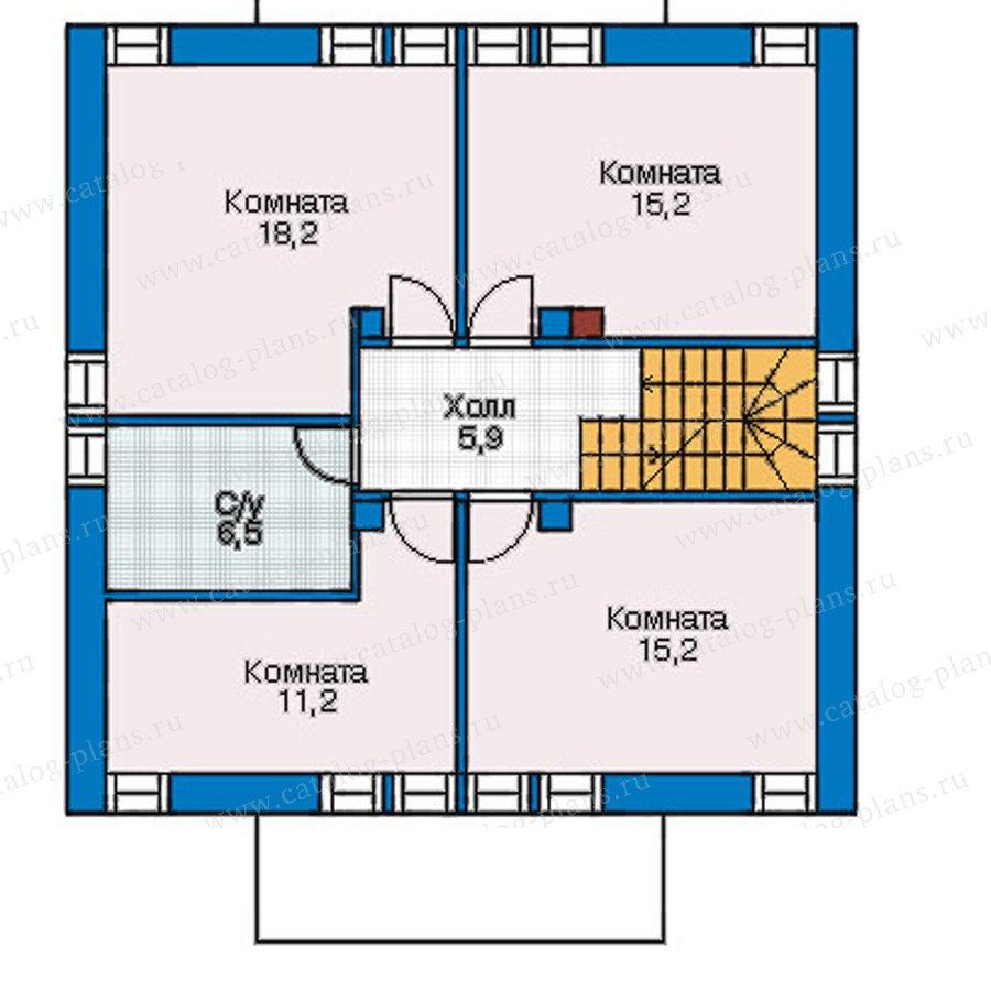 План 2-этажа проекта 54-81
