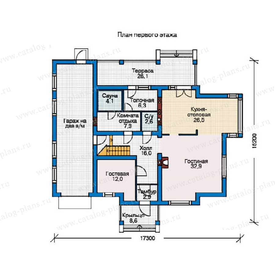 План 1-этажа проекта 55-10
