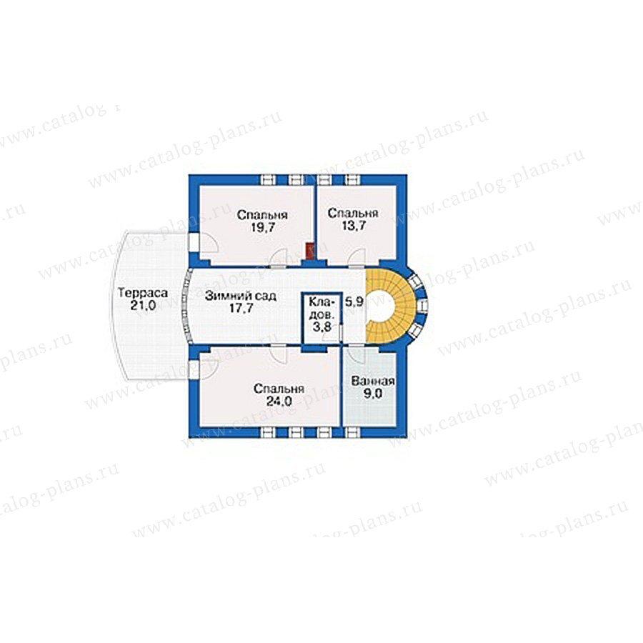 План 2-этажа проекта 55-48
